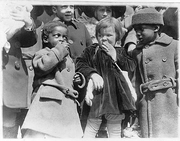 Children at the White House Easter Egg Rolling, or rather, Eating, as Mrs. Coolidge would later describe these annual gatherings in her Autobiography, p.75.