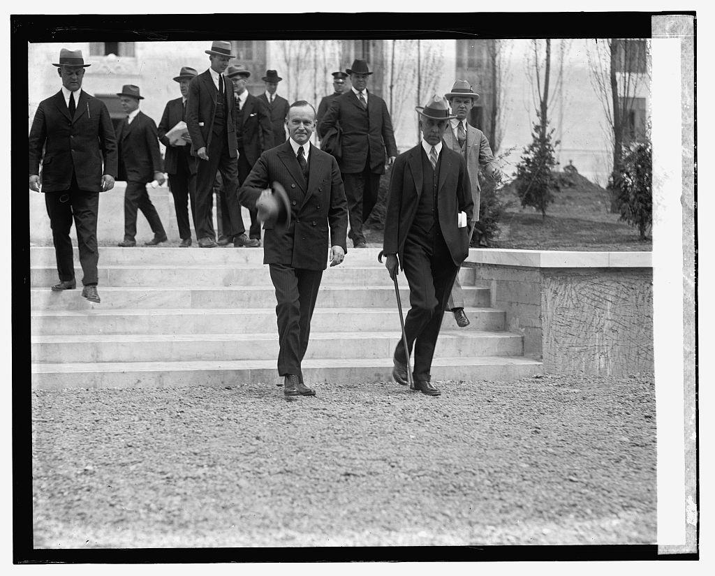 The President and his secretary, C. Bascom Slemp.