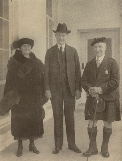 "President Coolidge with Sir Harry and Mrs. Lauder at the White House, 1926. Churchill once called Lauder, famous for his musical and comedic talents, ""Scotland's greatest ambassador."""