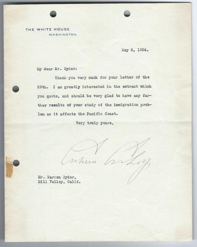 CC letter 5-6-1924