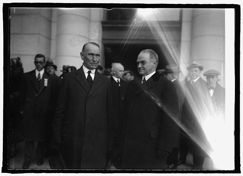 Colonel John Coolidge and Governor Billings of Vermont, March 3, 1925. Courtesy of the Library of Congress.