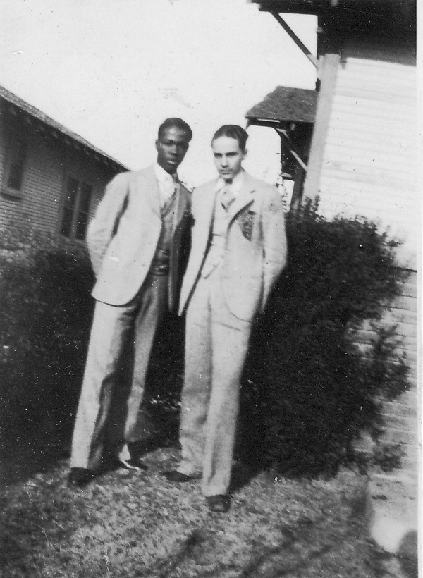 Two young friends during the 1920s