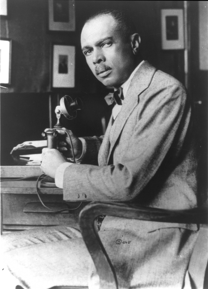 James Weldon Johnson, head of the National Association for the Advancement of Colored People. Photo taken around 1920.