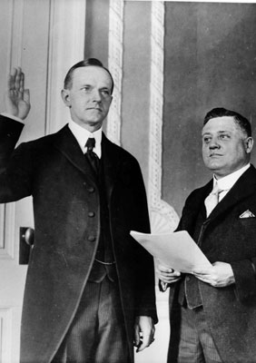 Governor Coolidge taking oath