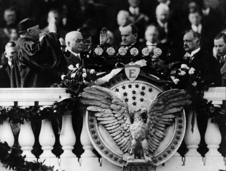 Coolidge taking oath 1925