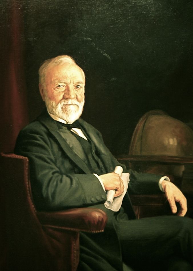 Andrew Carnegie (1835-1919). Portrait in the National Gallery of Art, Washington, D. C.