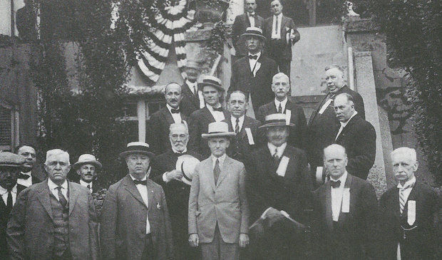 Vice President Calvin Coolidge with citizens of Elizabeth, New Jersey, July 1, 1922. Courtesy of the Elizabeth Public Library.