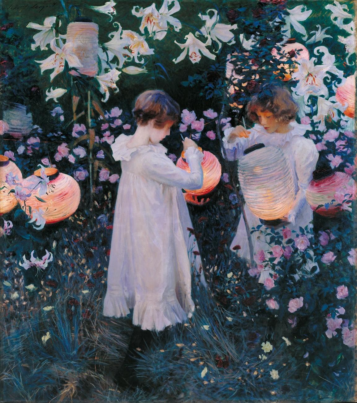 John Singer Sargent's Carnation, Lily, Lily, Rose (1885)