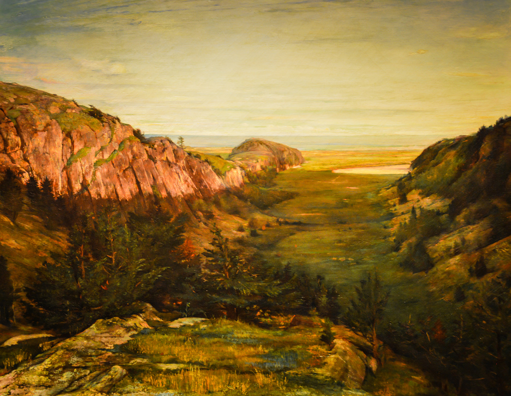 John La Farge's The Last Valley - Paradise Rocks (1868)