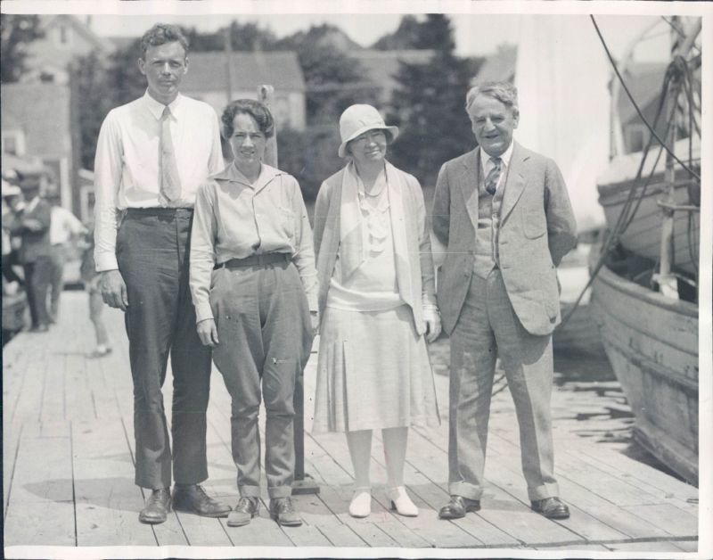 Mr. and Mrs. Morrow (right) and Charles and Anne Morrow Lindbergh (left), pictured in early 1931, shortly before Mr. Morrow's death.