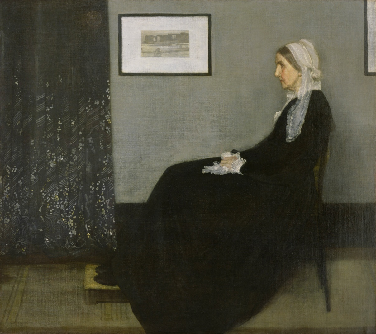 James McNeill Whistler's most familiar work, Whistler's Mother, 1871.