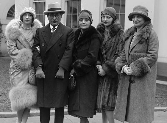 Willebrandt and the Mayer family meeting President Coolidge at the White House, February 3, 1927.