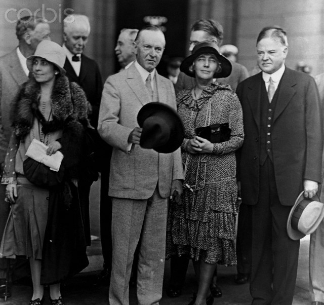 The Coolidges welcomed at Union Station on their return from the last summer escape before the end of official duties, Washington, 1928.