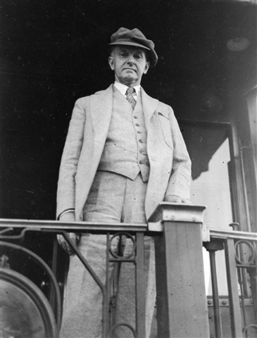President Coolidge on his to Wisconsin, 1928.