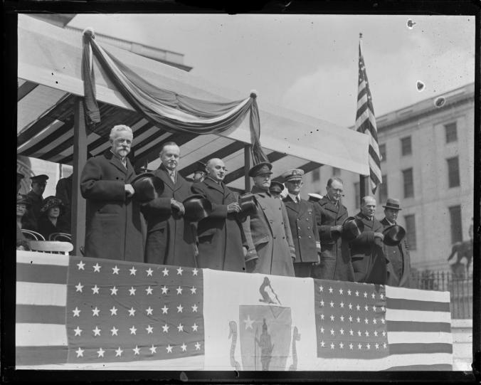 Gov CC on reviewing stand 1919