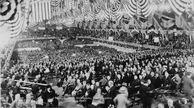 A snapshot from the 1920 Republican National Convention held in Chicago.