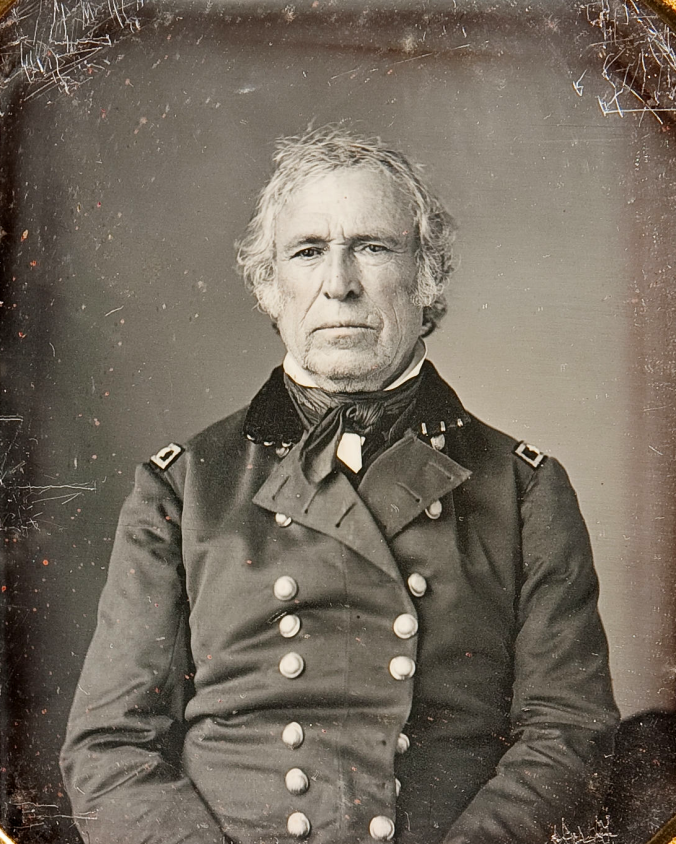 Zachary Taylor, the divided and reluctant Whigs' choice in 1848. Both Daniel Webster and Henry Clay declared this was the death of their party. It proved to be so within 8 years.