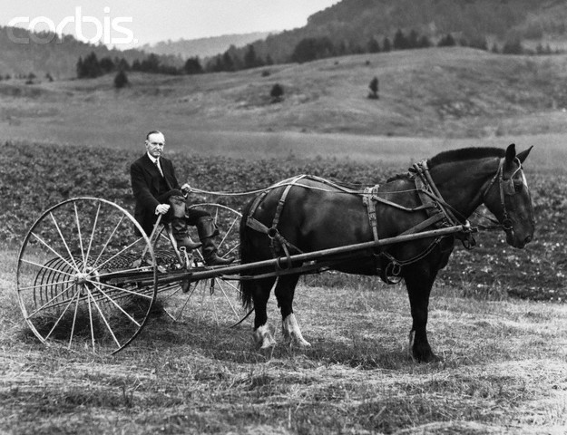 Former President Coolidge on Farm