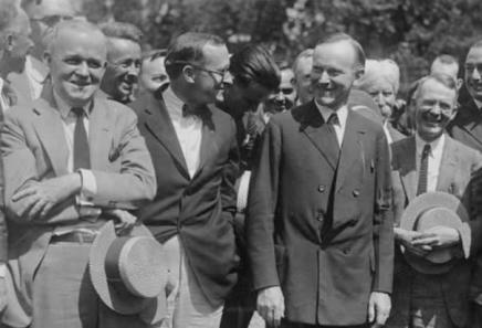 calvin-coolidge-newspapermen