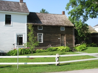 The house where Calvin and his younger sister Abby were born, attached to the General Store and across the street from the Homestead.