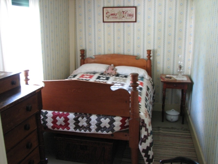 The bed on which Calvin and his sister Abby were born.