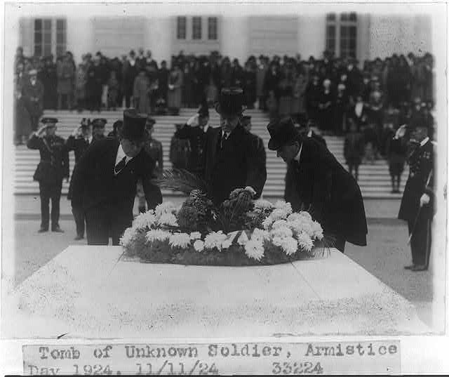 Tomb of Unknown Soldier, Armistice Day, 1924 11-11-1924