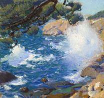 charles-hopkinson-Surf-in-Morning-Sunlight