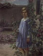 robert-wadsworth-grafton-courtyard-with-hollyhocks