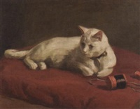 robert-wadsworth-grafton-the-artists-daughters-white-cat