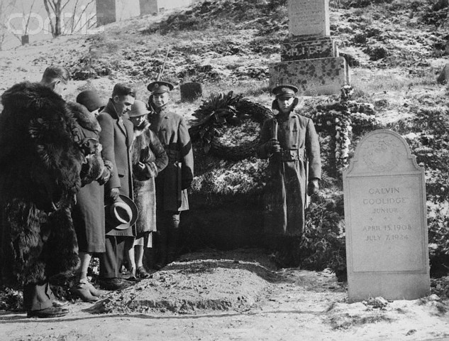People Mourning at Grave of Calvin Coolidge