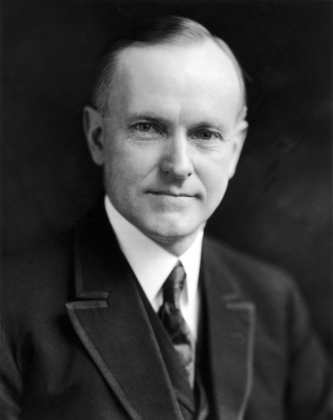 Calvin Coolidge, Us President 1923