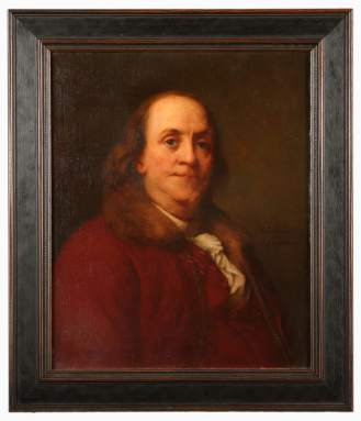 Benjamin Franklin, after the 1785 original done by Duplessis.