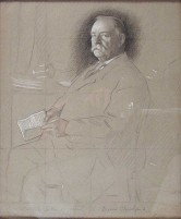 Grover Cleveland preliminary etching, 1906.