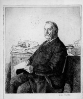Grover Cleveland etched portrait, 1906.