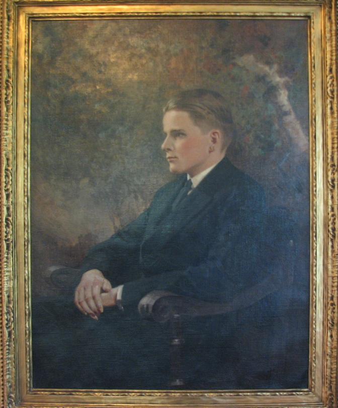 Calvin Coolidge Jr., 1925. The portrait now hangs at the Welcome Center of the Calvin Coolidge State Historic Site. It is well worth setting aside a couple days to walk the grounds, view the excellent displays, tour the buildings, and pause at the cemetery across the road.