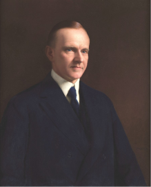 Calvin Coolidge, 1938. Photo credit: The Abraham Lincoln Foundation of The Union League of Philadelphia.