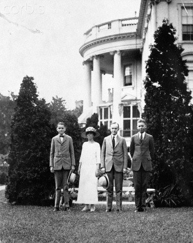 Coolidge Family at White House