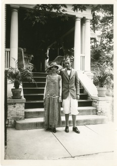 Mrs. Coolidge at Mercersburg with son, John.