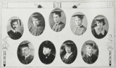 Graduating Class (1924): Top-John Washington, Theodore Spaulding, David Moss, Alfred E. Smith, Elizabeth Moore; Bottom-Howard Kennedy, Joseph Hoffman, Sadie Hill, Charles Jenkins