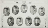 Graduating Class (1924): Top-Elbert Beard, Benjamin Smith, William Williams, Louis Lucas, Abraham Fisher; Bottom-John Jackson, George Parker, James Pinn, Leon Wormley