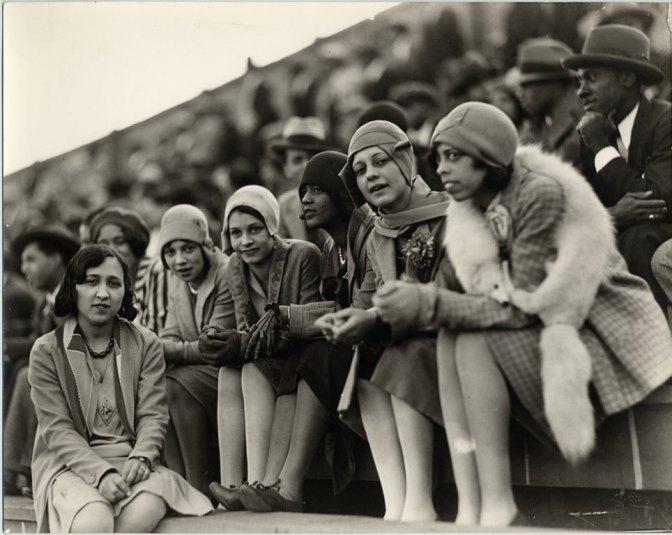 Howard University students at Griffith Stadium.