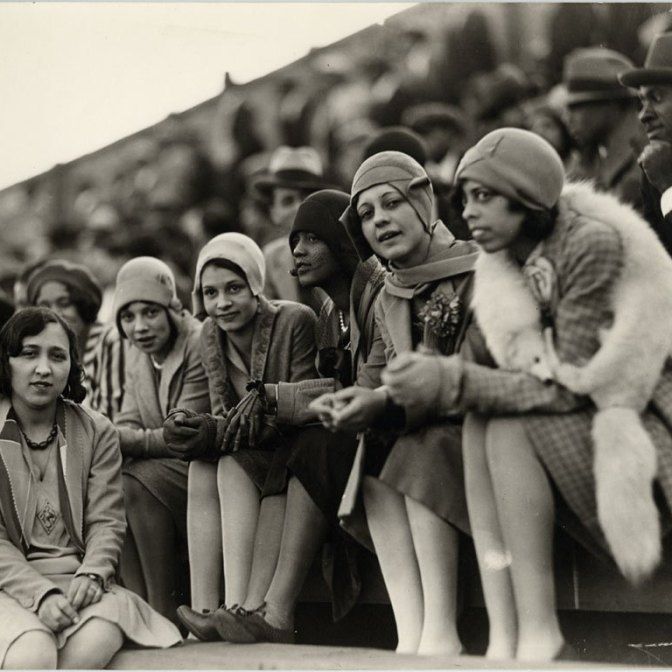 Howard University students at Griffith Stadium.