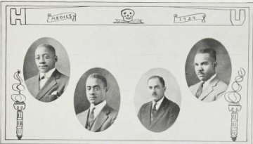 Medical School Graduates (1924): Seth Stewart, Elias Thompson, Joseph Trigg, Jayfus Ward