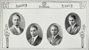 Medical School Graduates (1924): George Allen, David Anthony, William Baucum, James Canaday.