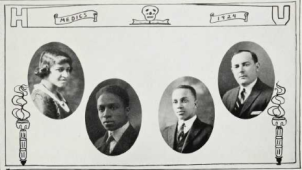 Medical School Graduates (1924): Ora Fisher, Rudolph Fisher, Joseph Andrews, Max Freydberg