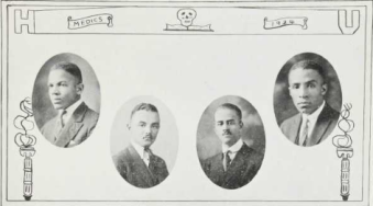 Medical School Graduates (1924): John Harris, Edward Howell, Albert Hughes, William Jefferson