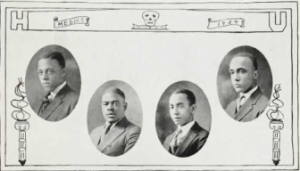 Medical School Graduates (1924): Charles Marshall, Robert Mathews, LeCount Matthews, Maceo Morris