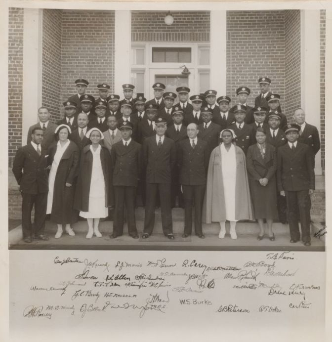 The staff of Tuskegee's Veteran's Hospital.