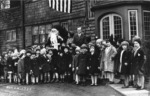 Coolidges and Santa at The Beeches November 24 1930