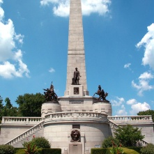 Lincoln tomb at Springfield, Illinois.